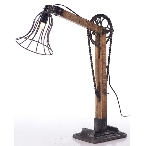 Industrial Bicycle Chain Caged Lamp
