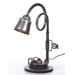 Industrial Coiled Neck Table Lamp