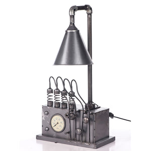 Industrial Table Lamp With Gauge Base