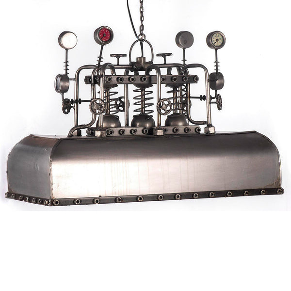 Industrial Steam Punk Rectangular Ceiling Light