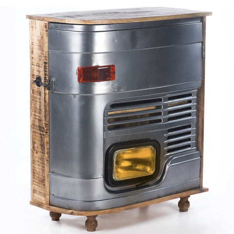 Upcycled Truck Door Cabinet with Single Head Lamp