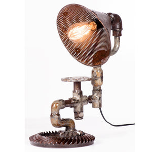 Industrial Iron Pipe Table Lamp