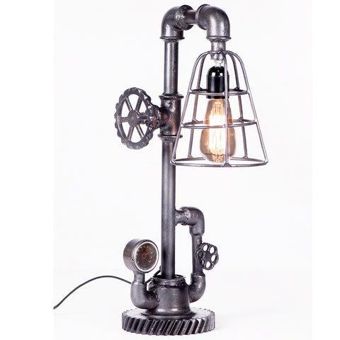 Iron Cage Steam Punk Table Lamp