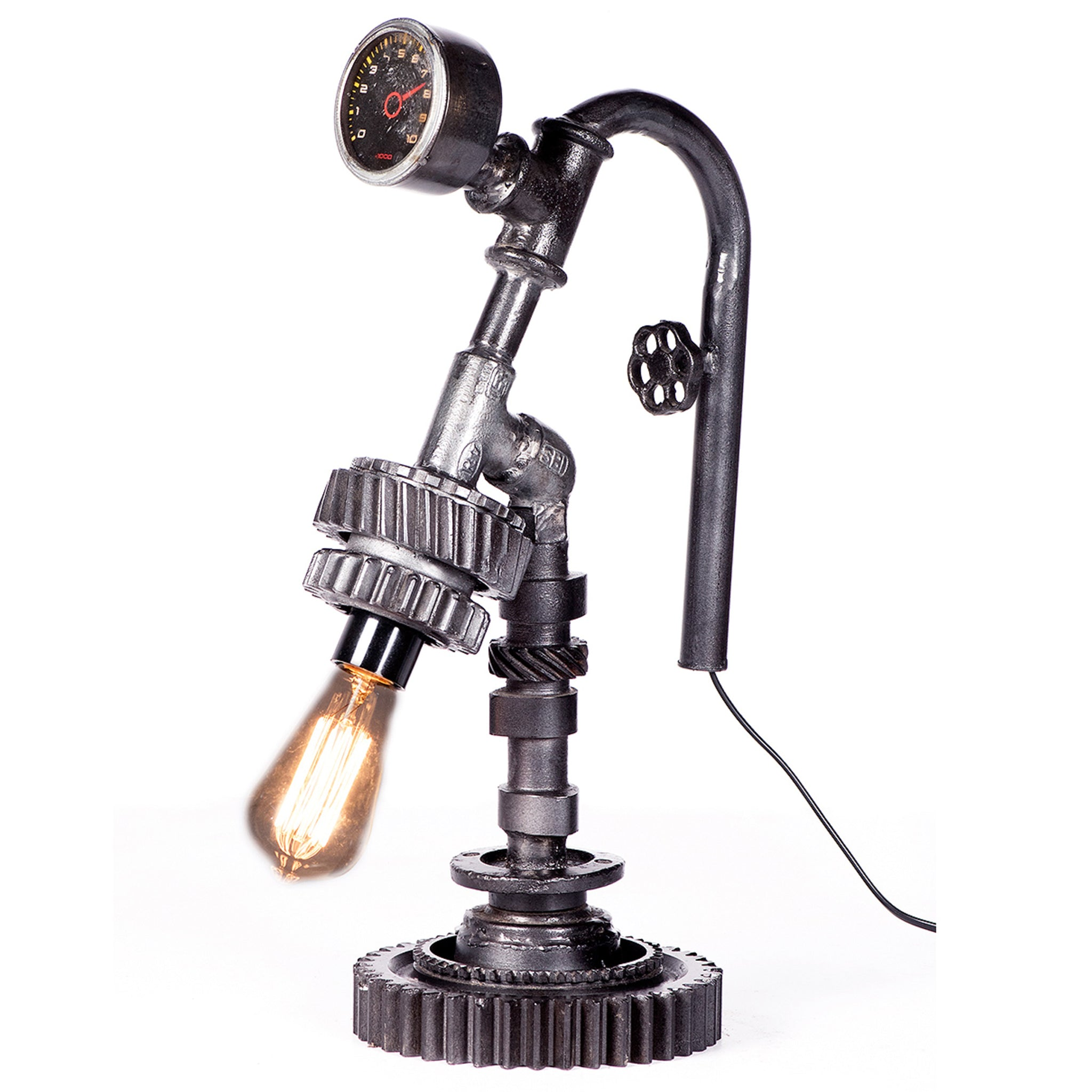 Industrial Iron and Meter Table Lamp