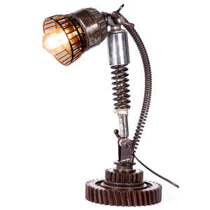 Iron Cog and Suspension Table Lamp