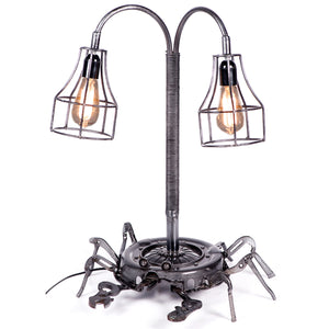 Hand Tools & Clutch Plate Crab Design Twin Table Lamp