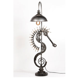 Recycled Veichle and Garage Parts 'Sea Horse' Table Lamp