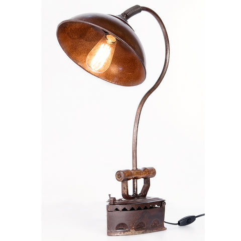 Recycled Iron Press Table Lamp