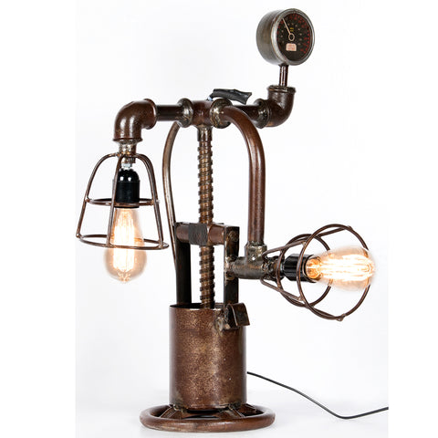 Industrial Twin Table Lamp