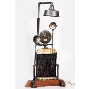 Radiator & Industrial Meter Triple Floor Lamp