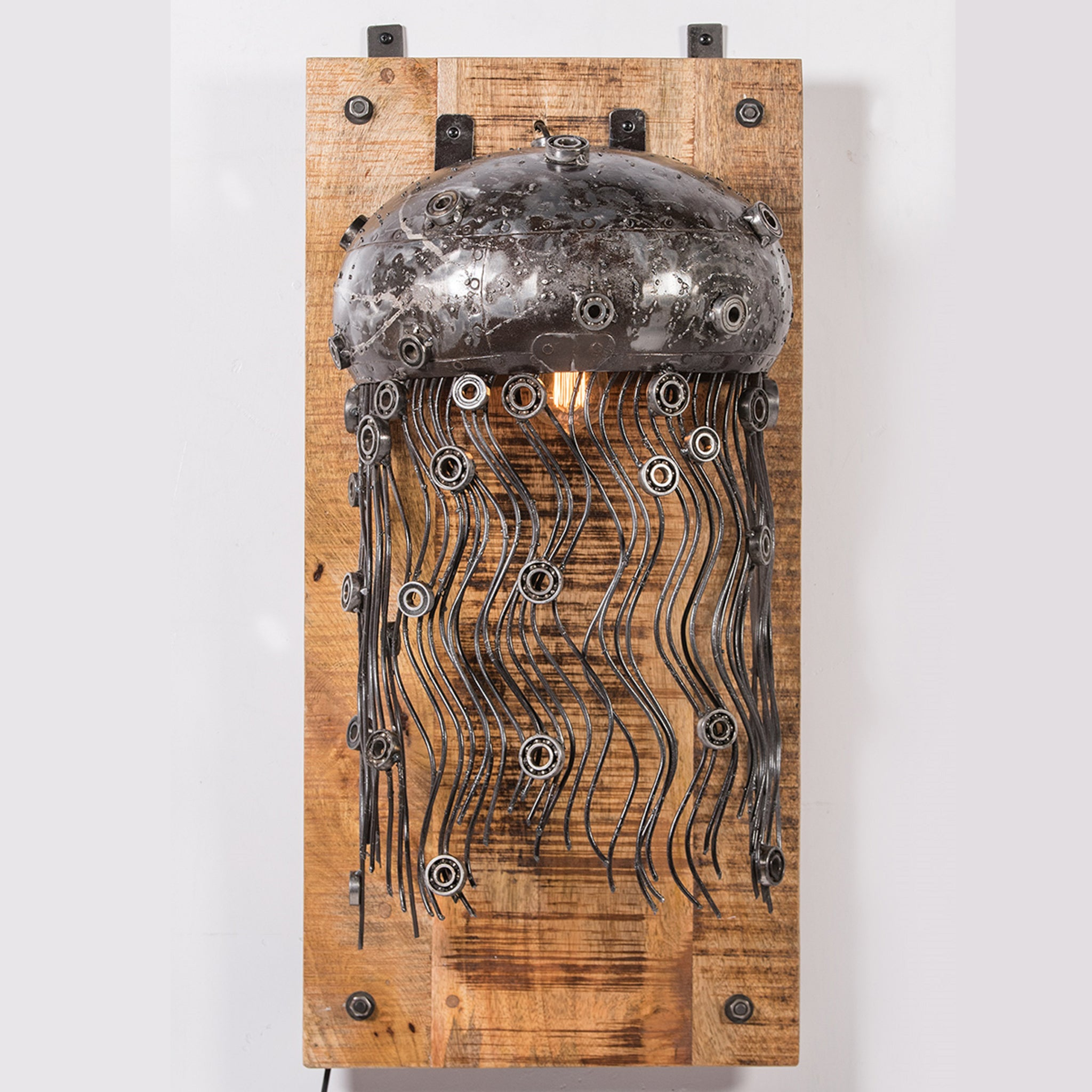 Industrial Iron Jelly Fish Wall Lamp