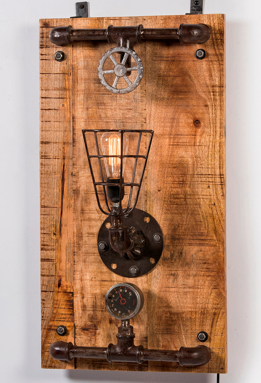 Upcycled Wall Mounted Light