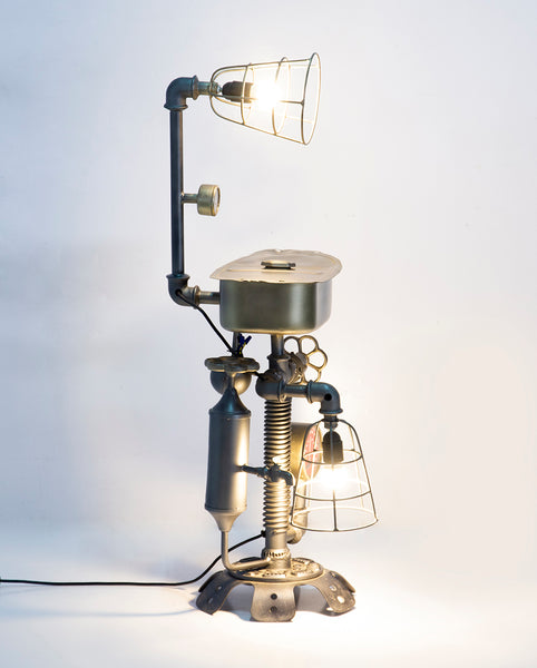 Upcycled Scooter Petrol Tank Table Lamp