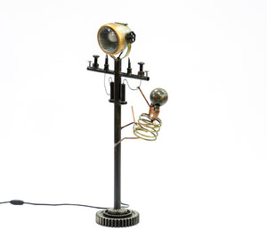 Upcycled Table Lamp With Climbing Figure