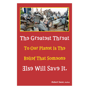 'The Greatest Threat To Our Planet' Wall Art with Wooden Frame - Set of 10