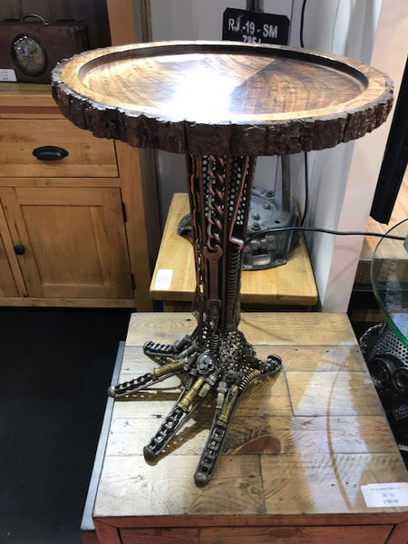 Wrought Iron Hand Table