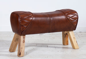 2 Seater Pommel Horse Leather Bench