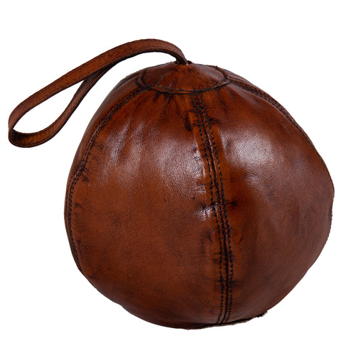 Round Leather Door Stopper