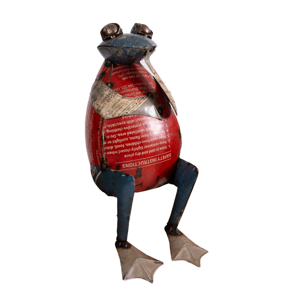 Recycled Iron Frog Thinking