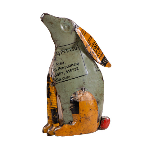 Recycled Iron Rabbit Large