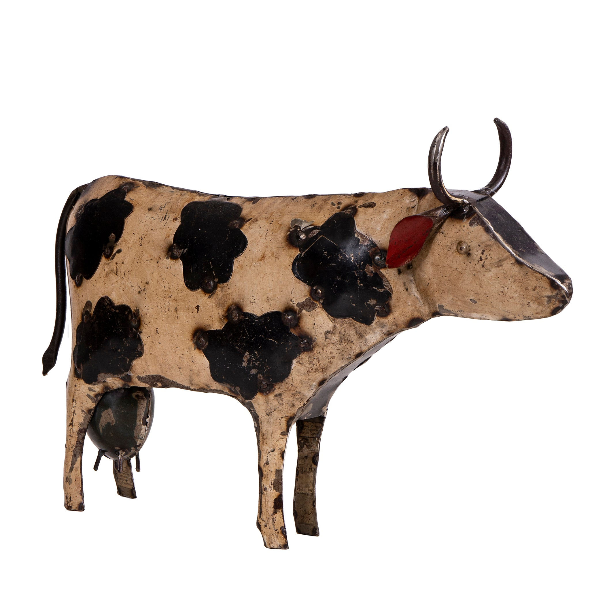 Recycled Iron Cow
