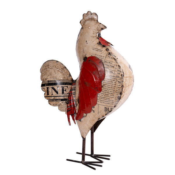Recycled Iron Hen Large