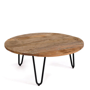Low Reclaimed Wood & Metal Coffee table