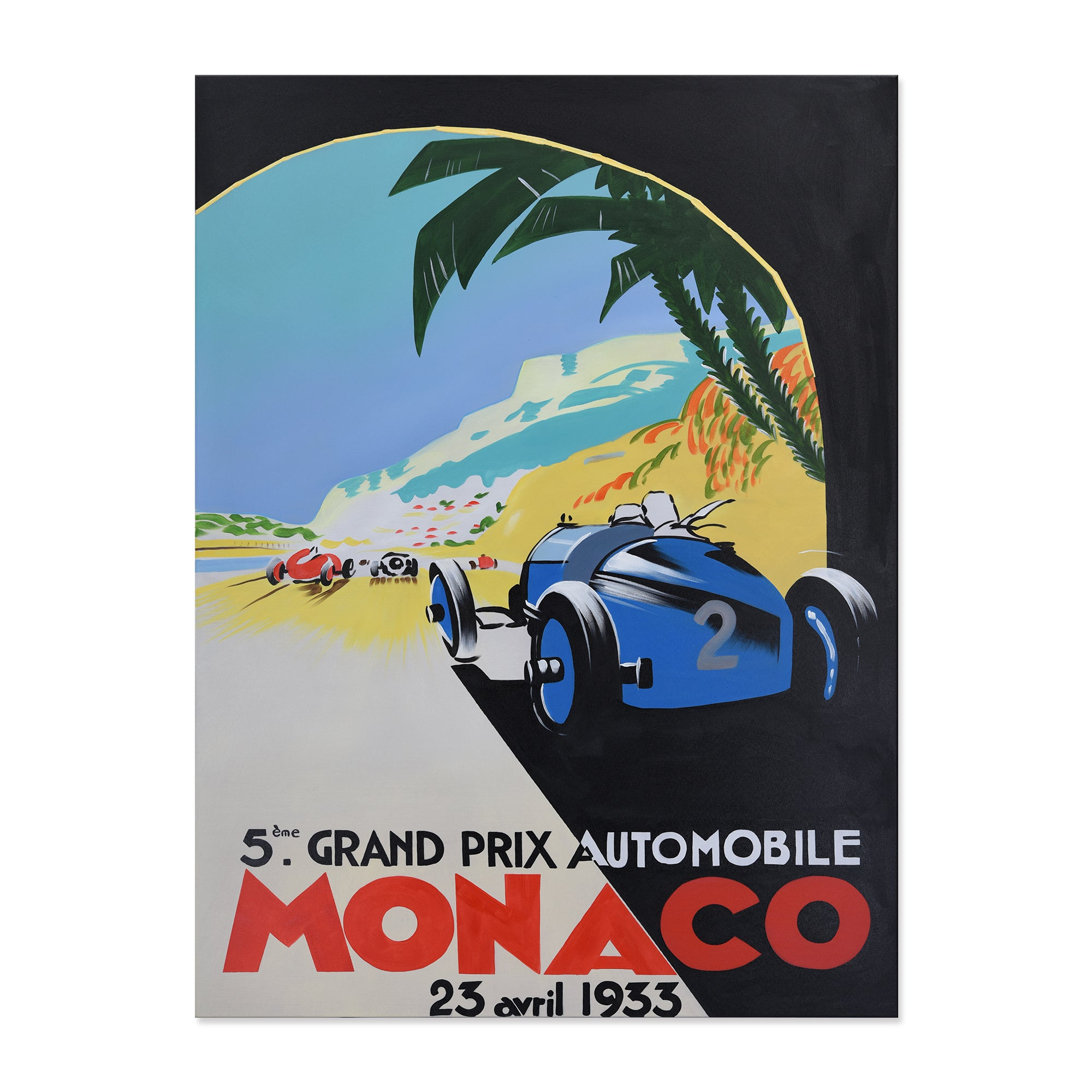 Hand Painted Art Deco Monaco Canvas