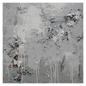 Calming Grey Abstract Canvas