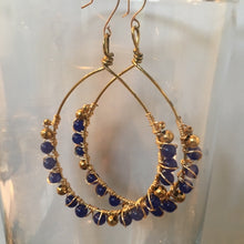 Load image into Gallery viewer, Tear Drop Wire Wrapped Beaded Earrings