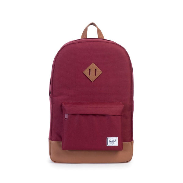 Herschel Supply Co. - Heritage Backpack (Wine/Tan Synthetic Leather)