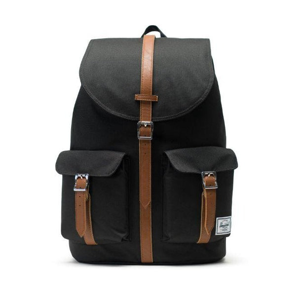 Herschel Supply Co. - Dawson Backpack (Black/Tan Synthetic Leather)