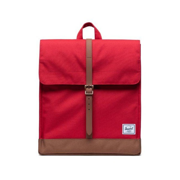 Herschel Supply Co. - City Backpack (Red/Saddle Brown)