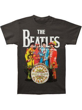 Beatles Sgt Pepper Mens Grey Shirt