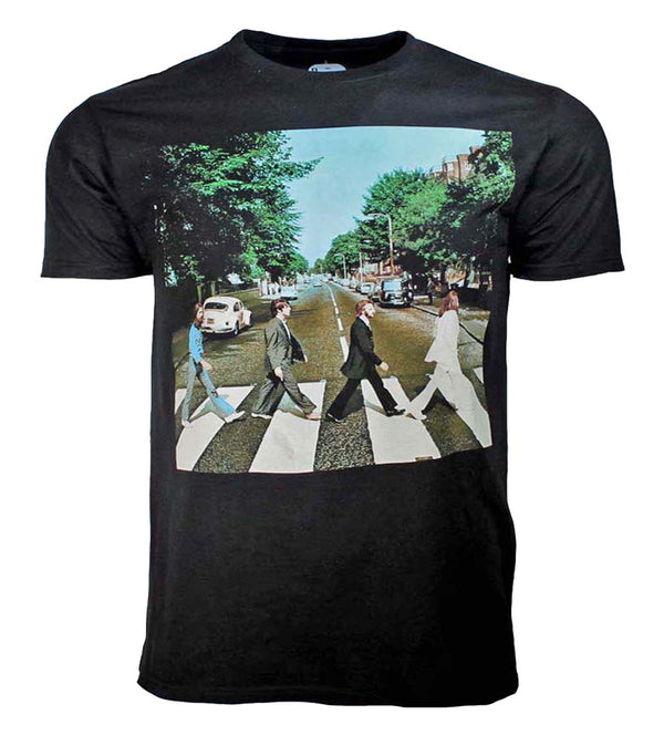 Beatles Abbey Road Mens Black Shirt