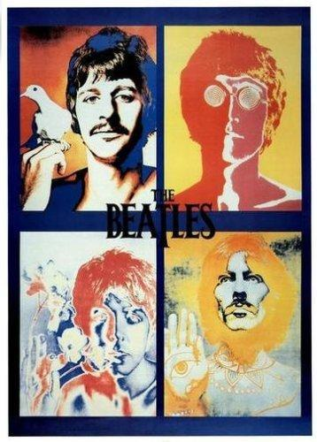 "Beatles - 4 Faces (POSTER) 24"" x 36"""