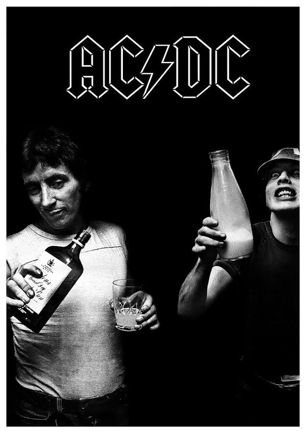 "AC/DC - Milk And Alcohol (POSTER) 24"" x 36"""