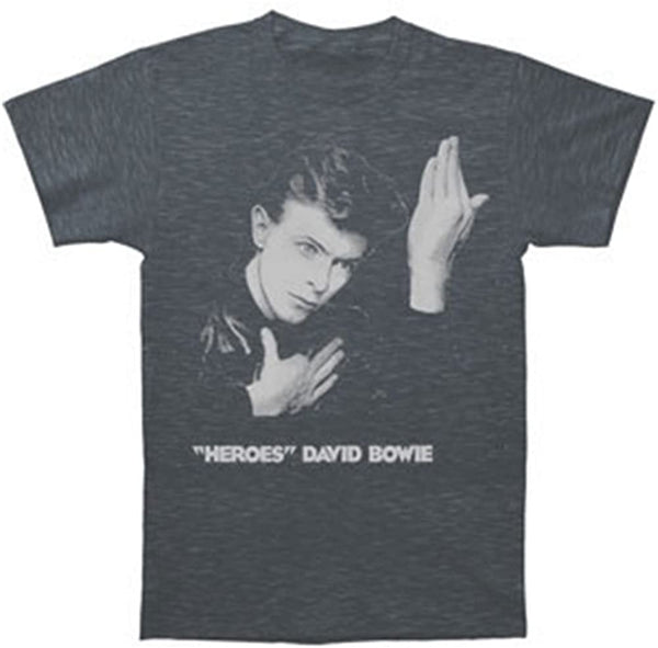David Bowie - Heroes Grey T Shirt