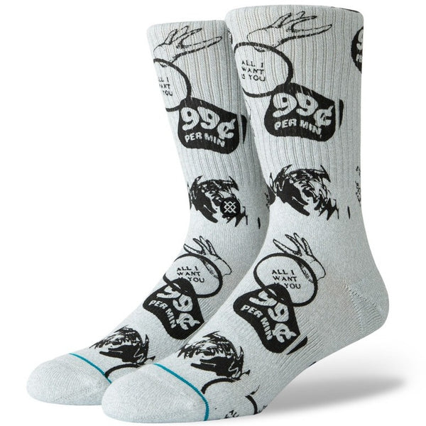STANCE Socks - All I Want Is You (Grey)