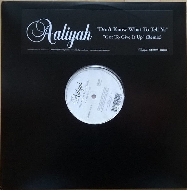 Aaliyah - Dont Know What To Tell Ya (New Vinyl)
