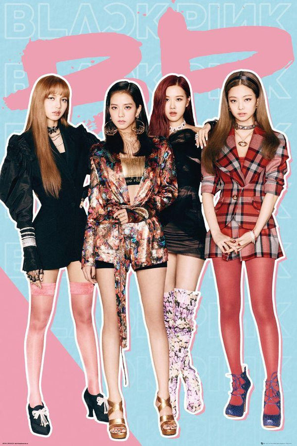 "BlackPink - Group (POSTER) 24"" x 36"""