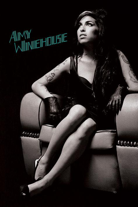 "Amy Winehouse - Chair (POSTER) 24"" x 36"""