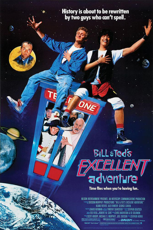 "Bill & Ted's Excellent Adventure (POSTER) 24"" x 36"""