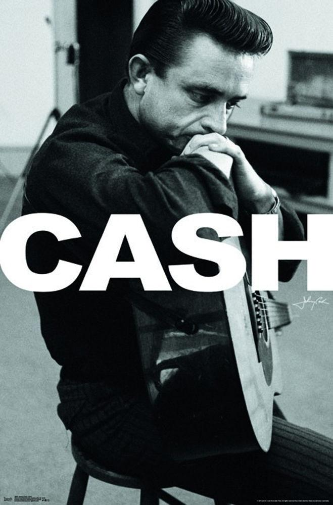"Johnny Cash - Cash Sitting (POSTER) 24"" x 36"""