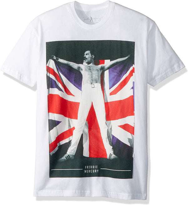 Freddie Mercury - Queen Flag White Shirt