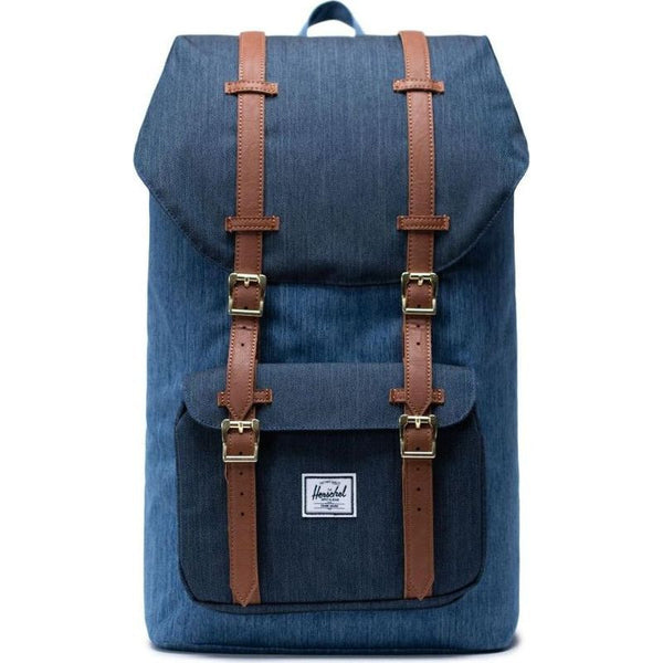 Herschel Supply Co. - Little America Backpack (Faded Denim/Indigo Denim)