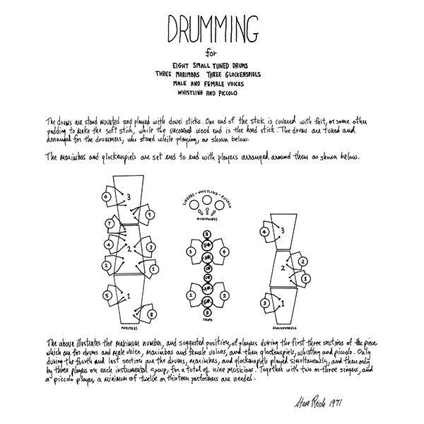 Steve Reich - Drumming (New Vinyl)