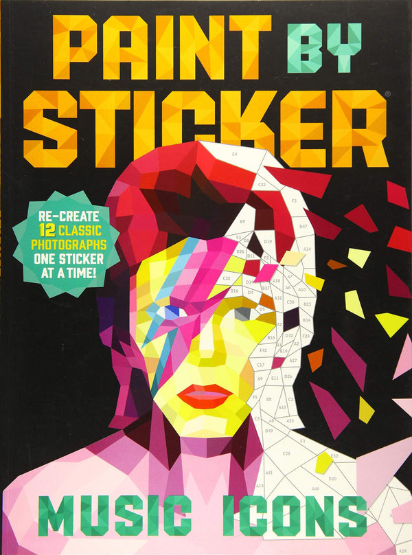 Paint By Stickers: Music Icons (Book)
