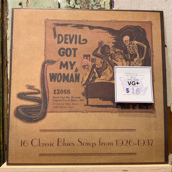(Used Vinyl) Various ‎– Devil Got My Woman: 16 Classic Blues Songs From 1926-1937 (VG+)