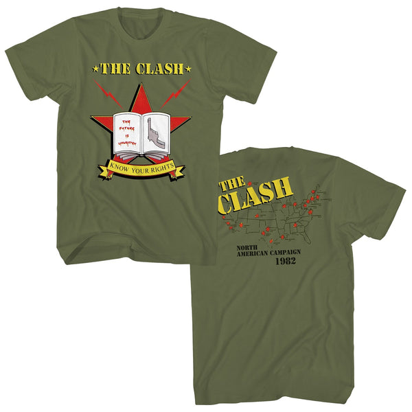 Clash Know Your Rights! Green Shirt